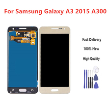 4.5 TFT LCD For Samsung Galaxy A3 2015 A300 A3000 A300F A300M Display + Touch Screen Assembly brightness Can adjust+Tools