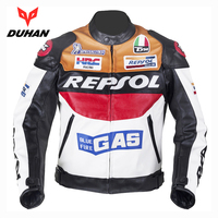 DUHAN Men Moto GP Racing Leather Jackets motorcycle Riding protective gear Jackets Motorbike Riding PU leather Jacket