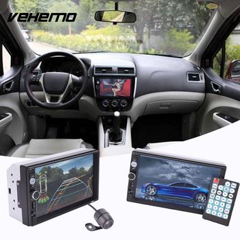 Vehemo HD 7 Inches Double Multimedia 2Din Car Bluetooth Touch Screen MP5 Player Waterproof With Rearview Camera image