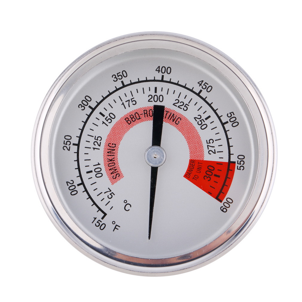 BBQ Pit Smoker Grill Stainless Steel Thermometer Gauge Temp Barbecue Cook