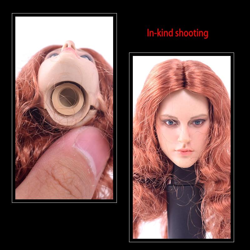 DSTOYS D-005 12/'/' Figure Body 1//6 Scale Female Women Red Long Hair Girl Head