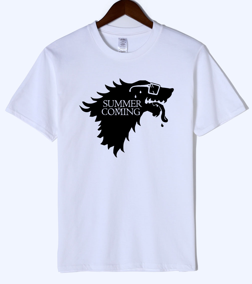 Novelty Funny T Shirts 2018 Hot Sale Summer Game Of Thrones Summer Is Coming Printed T-Shirts 100% Cotton Camisetas Hombre