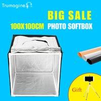 Trumagine 100x100 см Свет Палатка фото освещения палатки комплект фотостудия съемки Мягкая коробка Фотостудия аксессуары