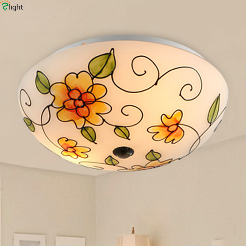 Modern Rural Metal Led Ceiling Lamp Lustre Printing Glass Bedroom Led Ceiling Lights Living Room Led Ceiling Lights Fixtures culture and modern contraceptive behaviour in rural ashanti ghana