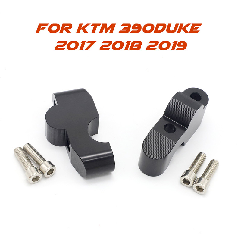 fit For <font><b>KTM</b></font> 390DUKE <font><b>390</b></font> <font><b>DUKE</b></font> <font><b>2017</b></font> 2018 2019 Motorcycle Handle Bar Clamp Raised Extend Handlebar Mount Riser image