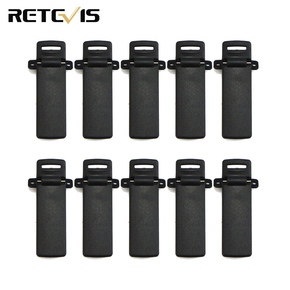 10pcs Radio Clip For Retevis RT5R Baofeng UV-5R BF UV5R Walkie Talkie Ham Radio Hf Transceiver J7105T