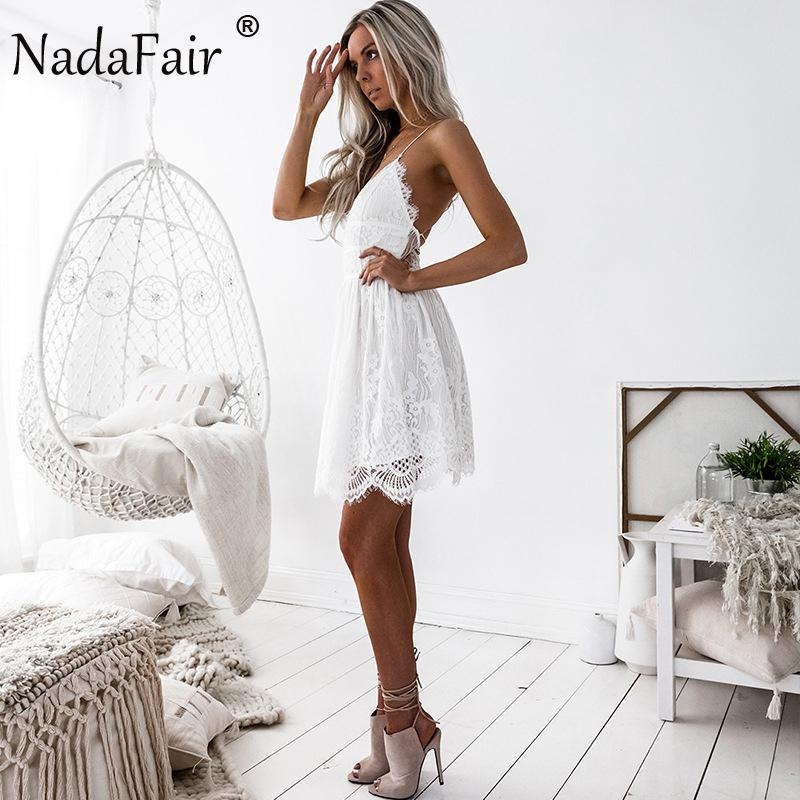 HTB1cOopa.3IL1JjSZFMq6yjrFXaa - FREE SHIPPING Party Dress Sleeveless Lace-up Backless V Neck White Black 142