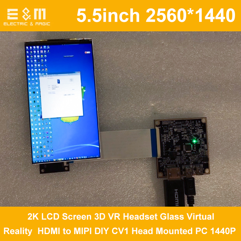 5.5 Inch 2560x1440 2K HDMI Display DIY LCD DLP 3D Printer SLA Screen Monitor UV Curing Projector Kit VR Glass CV1 Head Mounted