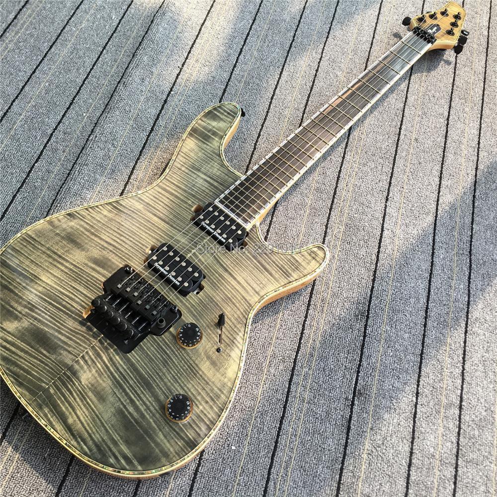 in stock 6 strings regius guitar floyd rose bridge locking tuners free shipping in guitar from. Black Bedroom Furniture Sets. Home Design Ideas