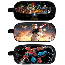 Star Wars Pencil Holder Superhero Spiderman Badass Heros Deadpool Case Children School Cases Kids Bag Material Escolar Lapices