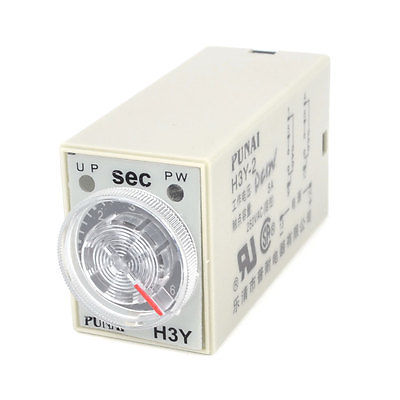 AC 250V 5A 0-60 Seconds Knob Control Electronic Timer Delay Relay H3Y-2 knob control dc24v dc12v ac110v ac220v 8p dpdt 5s seconds timer time delay relay w socket h3y 2