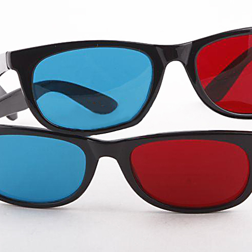 Lightweight Red Blue Cyan Plastic Frame 3D Glasses for Anaglyph Movie Game DVD
