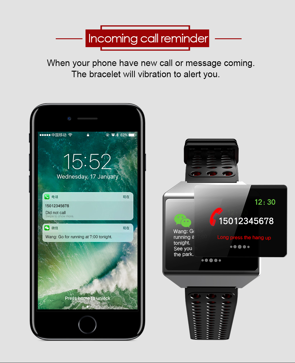 MOCRUX CK12 Smartwatch IP67 Waterproof Wearable Device Bluetooth Pedometer Heart Rate Monitor Smart Watch For AndroidIOS (13)