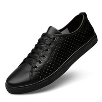 New high quality Breathable Genuine leather sport plate shoes men Size 37~47 comfortable Drive a car shoes men