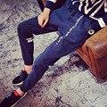 Мужские бегунов Марка Штаны Мужской Одежды Случайные Длинные брюки Шаровары ноги Hombre Калько Masculina 9072wg М-5XL