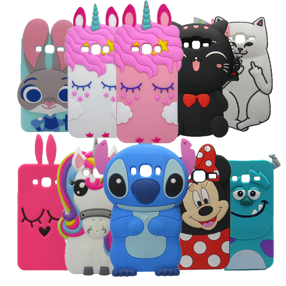 Phone-Cover-Case Unicorn J320-Cover Stitch J3-Case Soft-Silicone Samsung Galaxy Cartoon Minnie