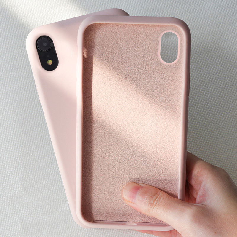 Silicone Case for iPhone X XR Xs Max 6s 7 8 Plus , Gel Rubber Full Body Protection Shockproof Cover Case Drop Protection Case(China)