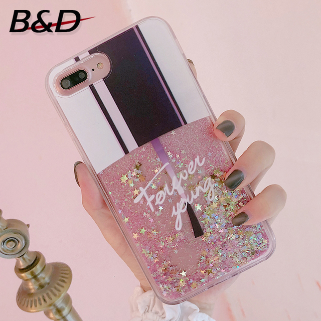 B D Cute Nail Polish Bottle Pattern Phone Case Cover For Iphone X 6 6s Plus 7