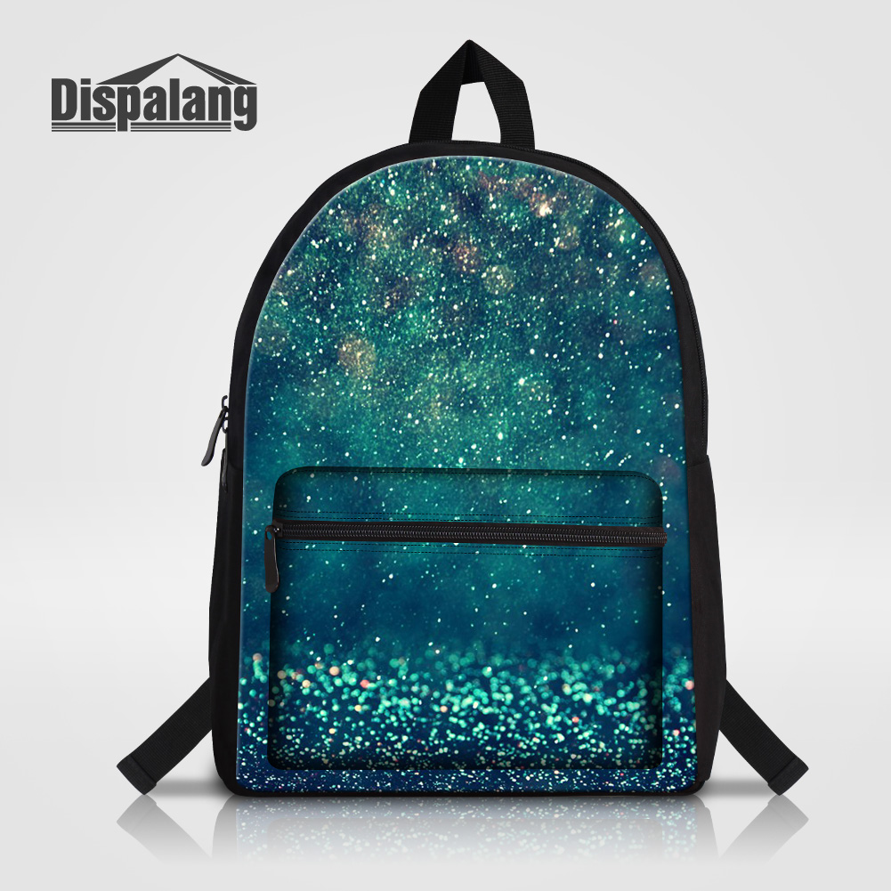 Dispalang Galaxy Men Women Laptop Backpack For 14 Inch Notebook Stars Sands Printing School Bags For Teenage Boys Canvas Mochila canvas backpack women for teenage boys school backpack male