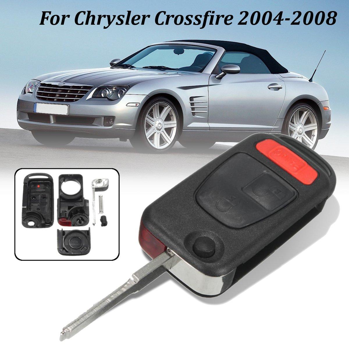 3 botones Flip control remoto plegable cubierta de la caja del coche Fob Key para Chrysler Crossfire 2004-2008 para Benz SLK32 para AMG