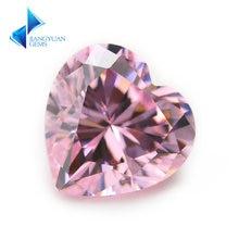 3x3 ~ 12x12 мм в форме сердца 5a розовый цвет кубический цирконий