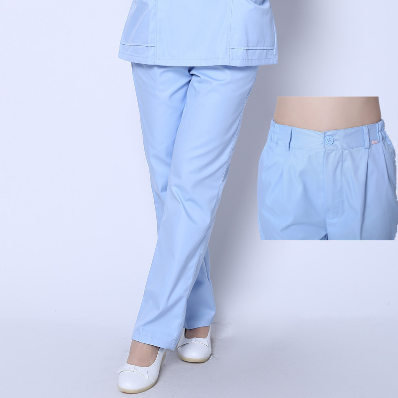 Genuine Thin And Thick Summer Nurse Pants Winter Nurse Trousers Elastic Waistband Nurse Clothes Large Size Doctor Pants