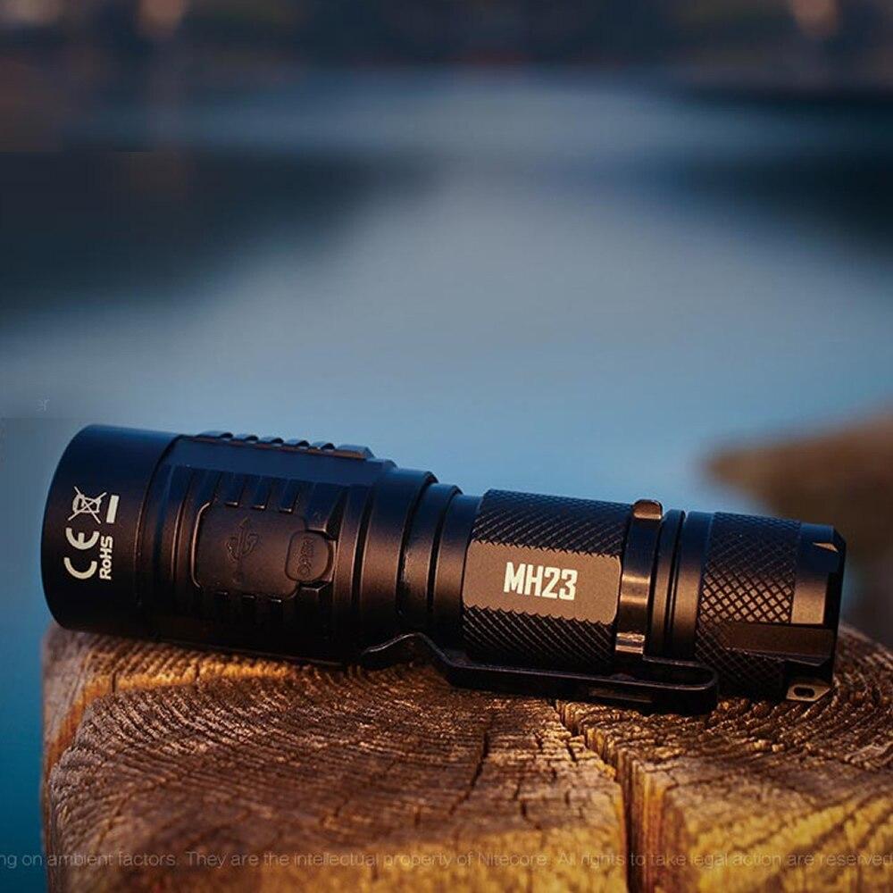 TOPSALE NITECORE MH23 Torch 1800LMs CREE XHP35 HD LED Mini Lamp Waterdichte Zaklamp 3500mAh Oplaadbare Batterij Gratis Verzending - 6