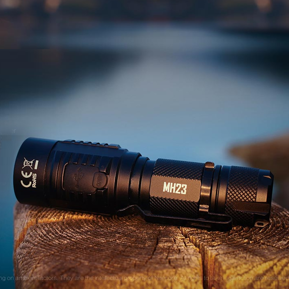 Topsale nitecore mh23 tocha 1800lms cree xhp35 hd led mini lâmpada lanterna à prova dwaterproof água 3500 mah bateria recarregável frete grátis - 6
