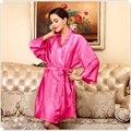 Ropa de dormir de Las Mujeres de Lujo de Invierno Profunda V Faux Satén De Seda Pijamas Batas Pijamas Camisones Para la Venta Caliente 12 Color