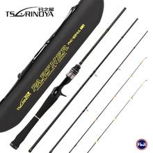 TSURINOYA PARTNER 4Sec 1.89m UL/L 2Tips Bait Casting Fishing Rod 4-10LB/2-7g Carbon Baitcasting Lure Rod Pesca Olta Cane Peche