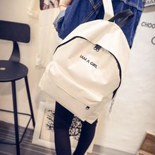 New Simple Fashion Canvas font b Bag b font Female Korean Backpack For Women School Student