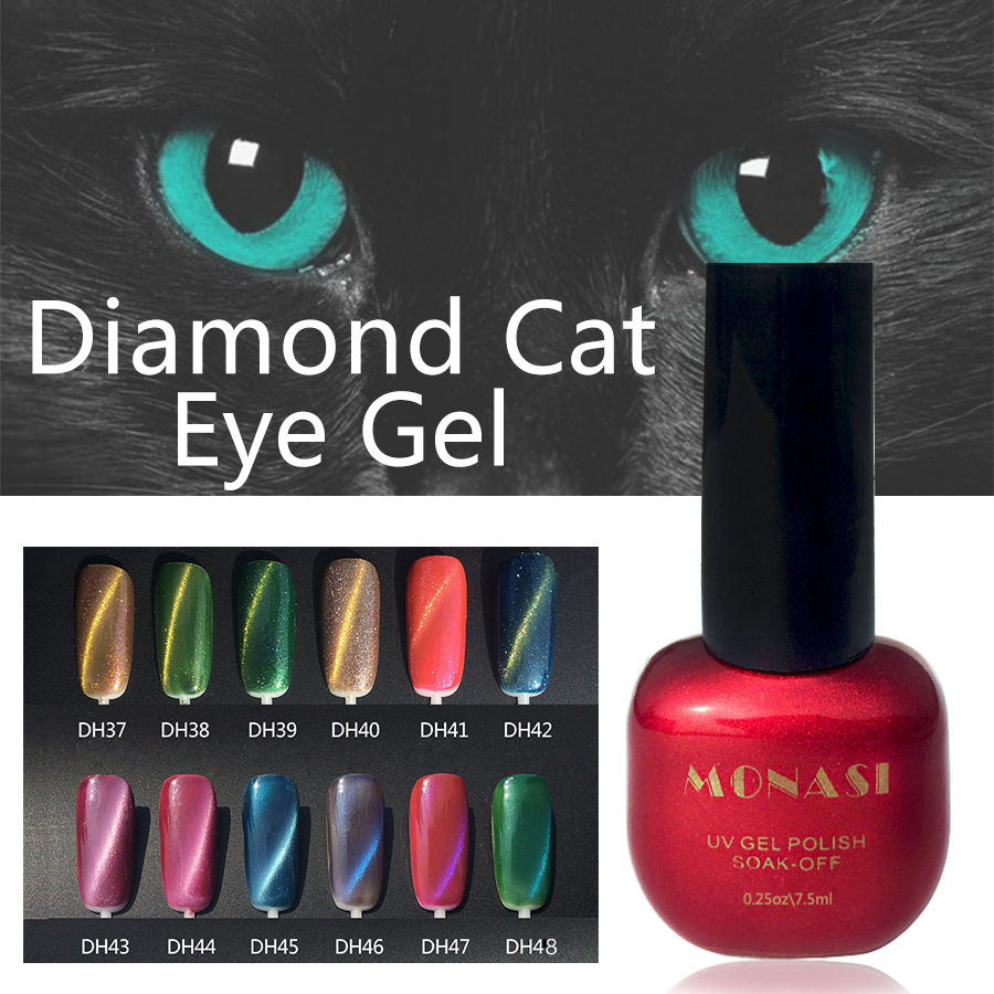 Online Shop MONASI 3D Diamond Cat Eyes Gel Nail Polish UV LED Gel ...
