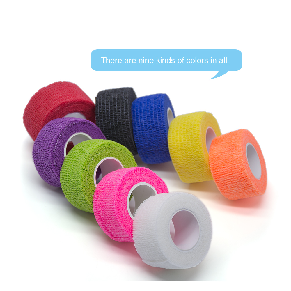 1pcs Self-adhesive Stretch Bandage Medical Care Gauze Band Random Color Waterproof Breathable C1435