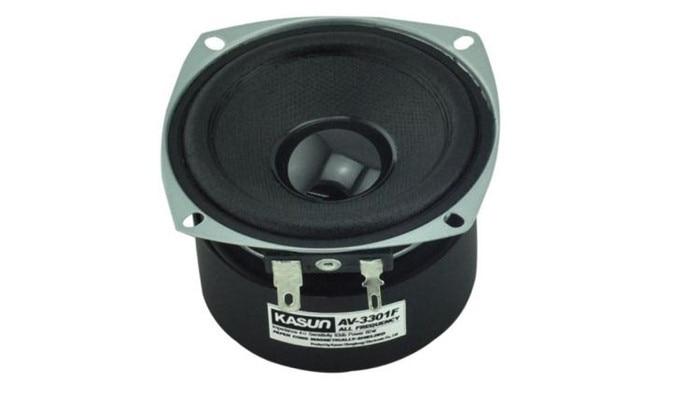 1pcs Magnetically shielded 3 inch full-range speaker unit Speaker AV-3301F 60W 4 ohm for amplifier h 019 fountek fr88ex full range 3 inch hifi speaker amplifier speaker hot sale 84 3db 1w 1m