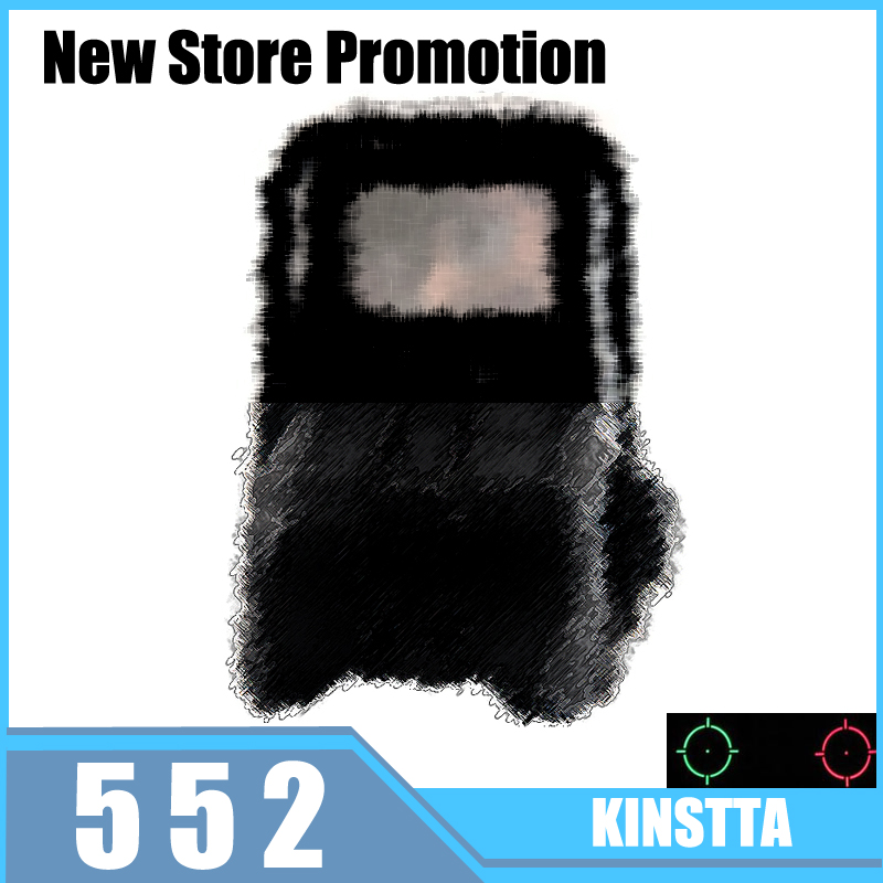 KINSTTA 552 Red Dot Reflex HOLOgraphic sights Collimator Sight AA Batteries For Airsoft/Softair Shotgun samsung rs 552 nruasl
