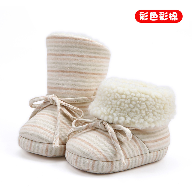0-6 months old baby 1 year old boys and girls winter and winter soft bottom thickening warm baby shoes toddler cotton shoes