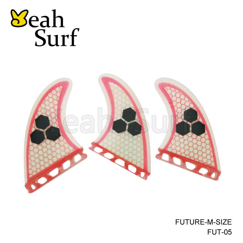 Surfboard Fin Future G5 Fin Quilhas Lys Rød Glasfiber Surf Fin Fremtidige Finder