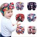2016 Criança Para O Menino Menina Elastic Bowknot Faixa de Cabelo Boemia Cocar Bowknot Headwear Chapéu de Flores