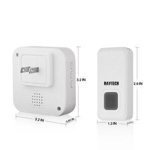 Image 4 - DAYTECH プラグインワイヤレスドアベル IP44 防水 55 とチャイムキット LED インジケータ 1 屋内受信機 2 doordoor ボタン