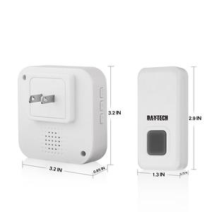 Image 4 - DAYTECH התוספת Wireless דלת פעמון IP44 עמיד למים פעמון עם 55 פעמוני ערכת LED מחוון 1 מקורה מקלט 2 doordoor כפתור
