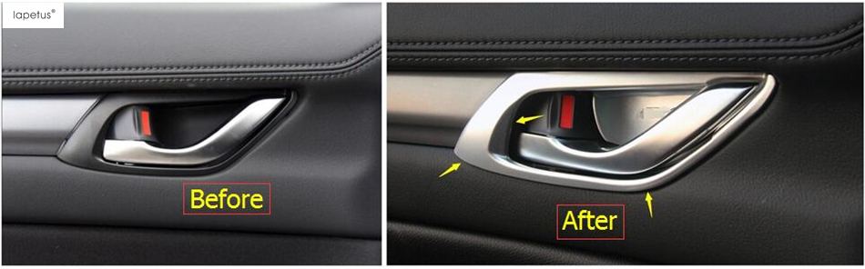 Accessories For Mazda CX-5 CX5 2017 2018 ABS Inner Door Handle Bowl Decoration Cover Trim for mazda cx 5 cx5 2nd gen 2017 2018 interior custom car styling waterproof full set trunk cargo liner mats tray protector