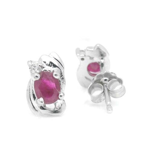 Brinco Qi Xuan_Free D'expédition Pierre Rouge Fleur Élégante Earrings_S925 Solide Argent Mode Earrings_Manufacturer Directement Vente - 2