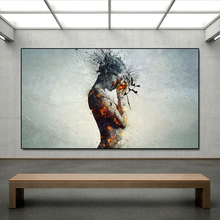 AAHH Body Explosion Headache Fire Wall Art Picture Canvas Painting Posters Print Decor for Living Room No Frame
