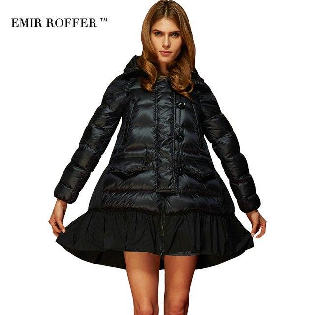 2016 модные плащи со свободной A образной юбкой, с капюшоном, пальто для женщин, зимний женский пуховик, парка, плюс размер, Camperas, верхняя одежда