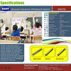 Portable Interactive Whiteboard Wireless Ultrasonic Whiteboard Electronic With 2 Pen For Teaching