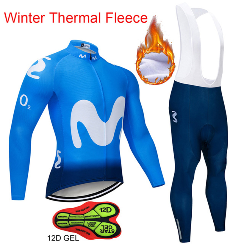 Pro Team Cycling Jersey Winter Long Sleeve Bike Clothes Thermal Fleece Roupa De Ciclismo Invierno Hombre