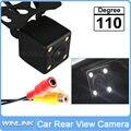 Universal de 110 Grados Impermeable de Visión Trasera Sistema de Ayuda Al Aparcamiento Cámara HD CCD con 4 LED de Visión Nocturna de Copia de Seguridad lateral