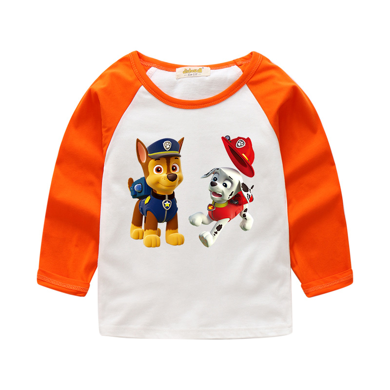 Drop Ship Children Long Sleeve Spring T-shirts For Boy Girls 3D Cartoon Dog Print Tee Tops Clothes For Kids Factory Sale CTX086