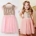 Bebé vestidos de fiesta y de boda de Oro lentejuelas Vestido de Princesa de La Muchacha Del Cabrito Infantil Pageant Tutu Dress Baby princess sofia vestido