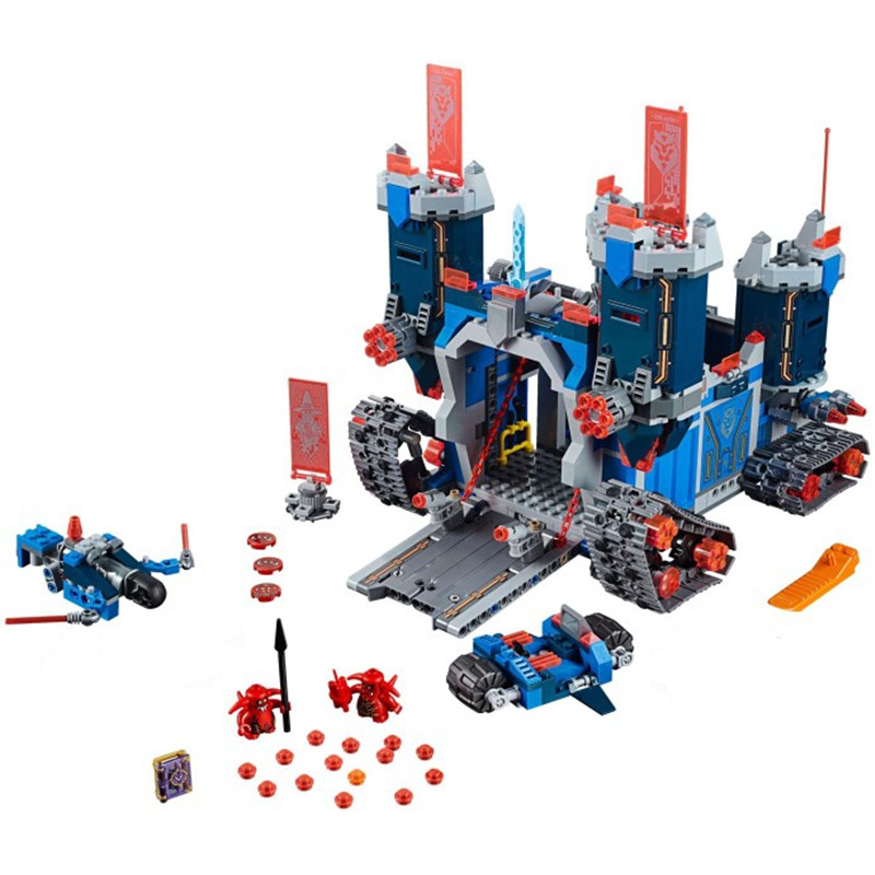 Gifts Pogo Bela 10490 1171PCS+ Nexus Nexo Knights Fortrex Castle Building Blocks Bricks Compatible with Legoe Toys pogo compatible legoe bela 10704 nexus nexo knights powers pouvoirs aaron lance clay building blocks bricks toys
